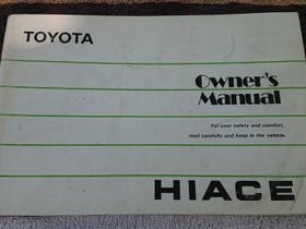 Toyota Hiace - Owner's manual, Lisävarusteet ja autotarvikkeet, Auton varaosat ja tarvikkeet, Loppi, Tori.fi