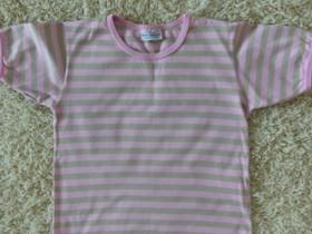 Marimekko vaaleanpuna-beigeraidallinen t-paita 120, Lastenvaatteet ja kengät, Mikkeli, Tori.fi