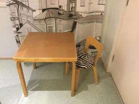 Artek lasten pöytä ja zeepra tuoli, Pöydät ja tuolit, Sisustus ja huonekalut, Aura, Tori.fi