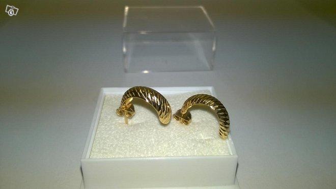 14 karaatin kultaiset korvakorut, 585, KJ