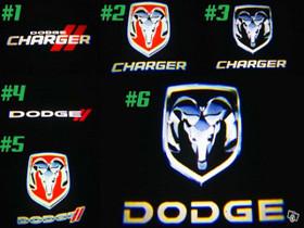 Dodge logolliset projektorivalot oviin ;2kpl sarja, Lisävarusteet ja autotarvikkeet, Auton varaosat ja tarvikkeet, Tuusula, Tori.fi