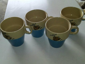 Coffeemukit 4kpl, Kahvikupit, mukit ja lasit, Keittiötarvikkeet ja astiat, Ulvila, Tori.fi