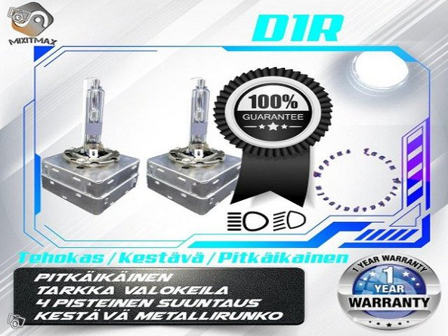 D1R Xenon polttimot ;4000lm KIRKKAAT; Metallikanta