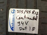 215 55 R17 94v continental kesärenkaat Q12