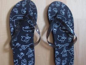 Mustat flip flopit, uudet, Vaatteet ja kengät, Tampere, Tori.fi