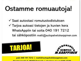 Romuautot ja toimivat autot, Autot, Kempele, Tori.fi
