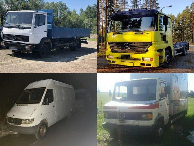 O: Mercedes-Benz paketti ja kuorma-autoja