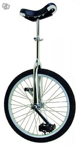 Yksipyöräinen unicycle 24' hopea