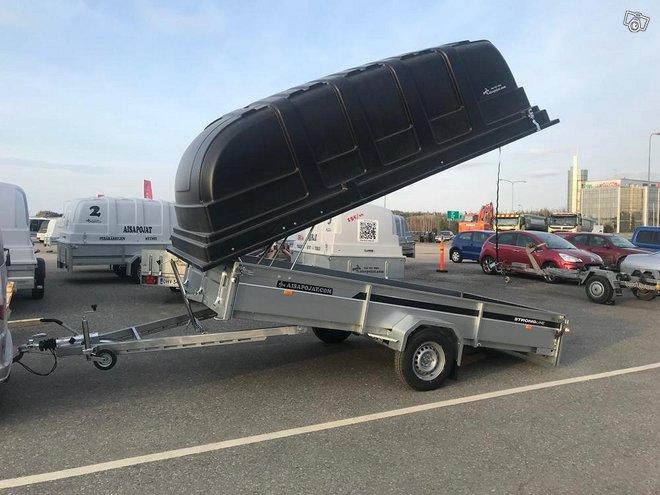 Mootorikelkka kärry 410x185cm, 1500kg kipillä