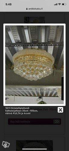 Eri kokoisia kristalliplafondeja
