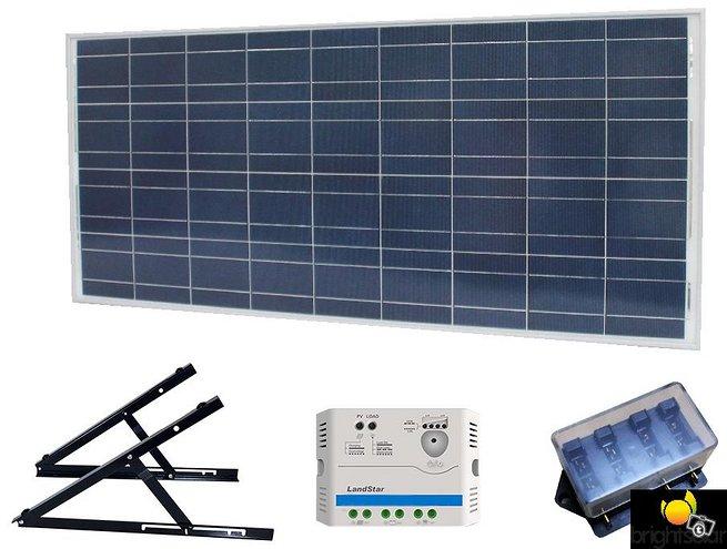 Brightsolar 160W aurinkopaneelisetti mökille
