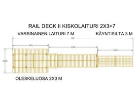 Rail Deck -kiskolaituri, Pihakalusteet ja grillit, Piha ja puutarha, Kontiolahti, Tori.fi