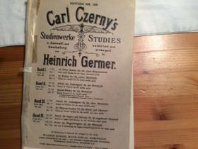 Nuottikirja Carl Czernyn etydejä pianolle, Muu musiikki ja soittimet, Musiikki ja soittimet, Kouvola, Tori.fi