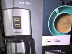 GRUNDIG Delisia kahvinkeitin, Muut kodinkoneet, Kodinkoneet, Espoo, Tori.fi
