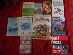 Mmm,indiana jones,pyynikinajot,lintukirja, Muut kirjat ja lehdet, Kirjat ja lehdet, Tampere, Tori.fi