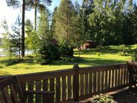 Talo järven rannalla