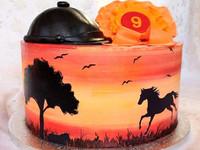 Syötävä kakkukoriste hevosesta - omasta kuvasta