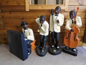 Patsaat: Jazz bändi, kvartetti, korkeus 95 cm, Sisustustavarat, Sisustus ja huonekalut, Salo, Tori.fi