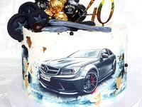 Syötävä kakkukoriste autosta - omasta kuvasta
