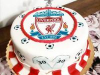 Syötävä kakkukuva jalkapallo - omasta kuvasta