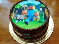 Syötävä kakkukoriste pelistä - omasta kuvasta
