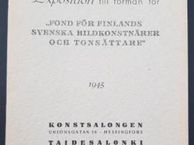 Taidesalongin vuosinäyttely luettelo 1945, Muut kirjat ja lehdet, Kirjat ja lehdet, Espoo, Tori.fi
