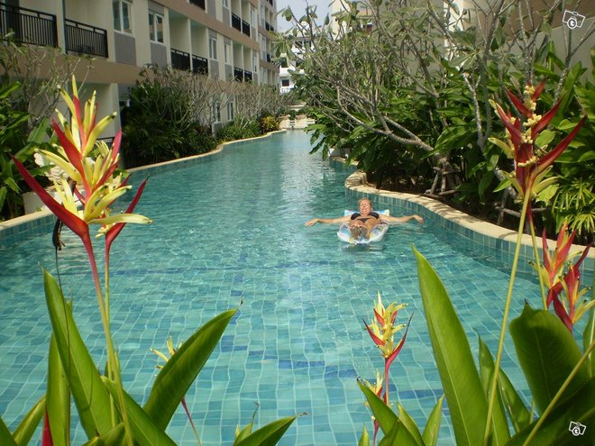 Thaimaa, jomtien beach, kaksio