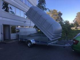 Iso ja tilava kuomullinen peräkärry 150x350x150, Peräkärryt ja trailerit, Auton varaosat ja tarvikkeet, Oulu, Tori.fi
