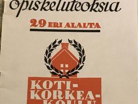 Jokamiehen opiskeluteoksia 29 eri alalta v.1937, Muu keräily, Keräily, Oulu, Tori.fi