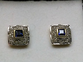 Kohinoor timanttikorvakorut sinisafiirilla, NW 585, Kellot ja korut, Asusteet ja kellot, Mikkeli, Tori.fi
