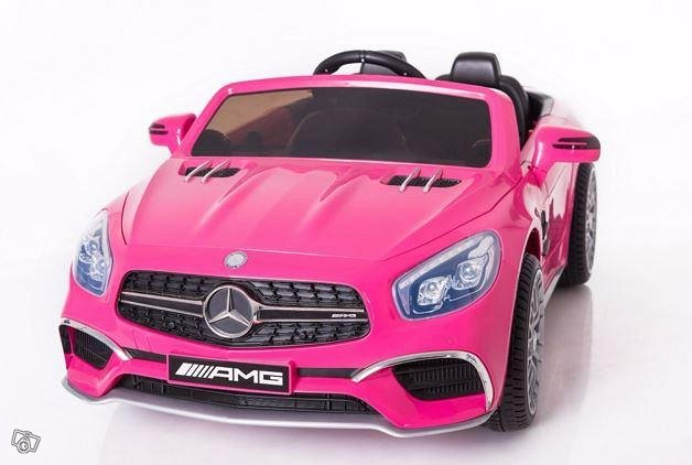Mercedes Benz AMG SL65 Pilot akkuauto pinkki