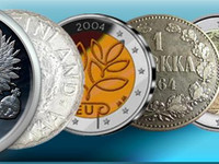 Keräilyrahoja mm setelit, kolikot , kultarahat ym