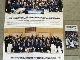 Jääkiekkojuliste ja 2019 Naisleijonien MM-kisaopas, Jääkiekko ja luistelu, Urheilu ja ulkoilu, Kuopio, Tori.fi