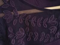 HM tumman lila paita koristekuvioilla (koko S), UU