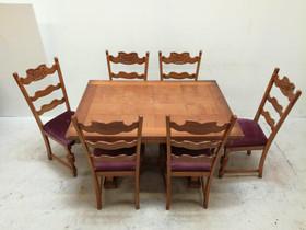 Tyylikäs ruokakalusto 30/40-luku, Pöydät ja tuolit, Sisustus ja huonekalut, Salo, Tori.fi