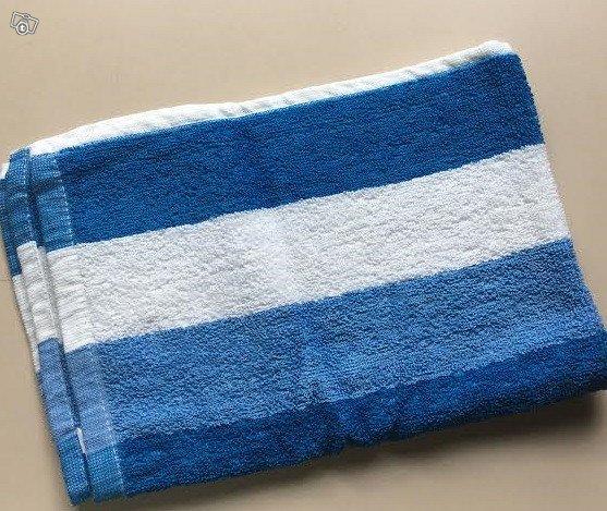 Sinivalkoinen frotee pyyhe liina