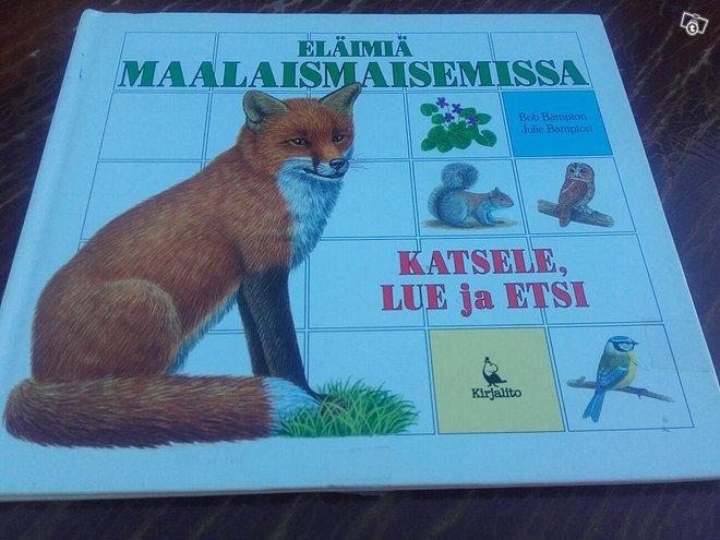 Eläimiä maalaismaisemissa - Katsele, etsi ja lue