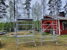 Alumiiniset rakennustelineet, Työkalut, tikkaat ja laitteet, Rakennustarvikkeet ja työkalut, Liperi, Tori.fi