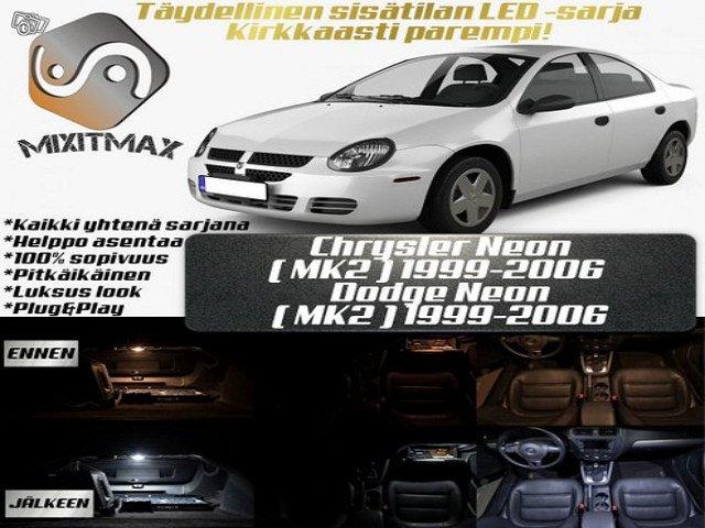 Chrysler / Dodge Neon(MK2) Sisätilan LED-sarja ;x6