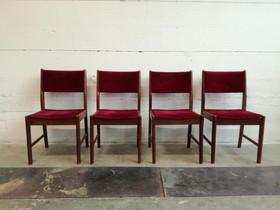 Teak tuolit 60-luku 4kpl V1, Pöydät ja tuolit, Sisustus ja huonekalut, Salo, Tori.fi