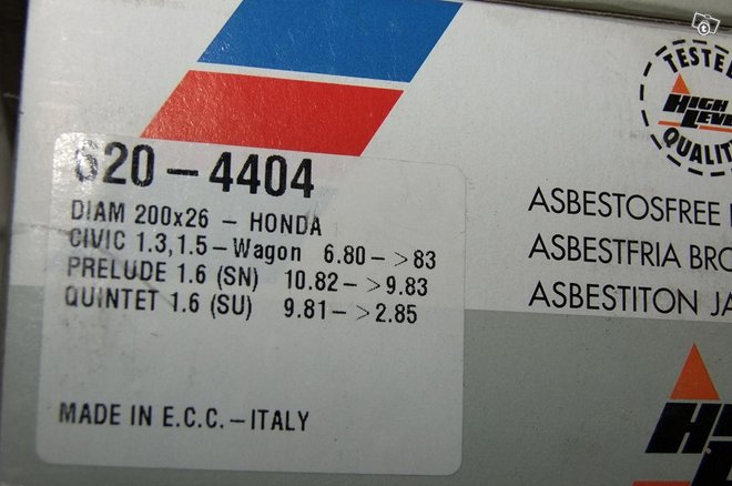 Honda civic/prelude/quintet 1980-85 uudet jarrut