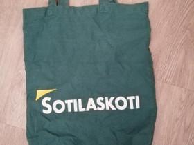 Vanha vihreä *SOTILASKOTI* kangaskassi 35 x 52 cm, Laukut ja hatut, Asusteet ja kellot, Savonlinna, Tori.fi