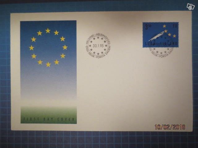 Fdc Suomi EU:hun 1995