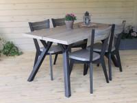 Lana ruokapöytä 150x88cm + 4 lankkutuolia -42%ALE
