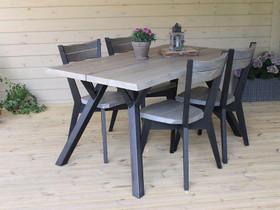 Lana ruokapöytä 150x88cm + 4 lankkutuolia -42%ALE, Pöydät ja tuolit, Sisustus ja huonekalut, Hanko, Tori.fi