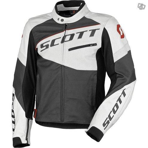 Scott Track Leather pusakka, Musta/ valkoinen