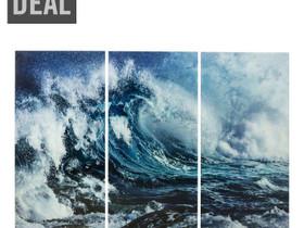 Lasitaulu Triptychon Wave (3/Set) ovh 999 eur, Taulut, Sisustus ja huonekalut, Espoo, Tori.fi