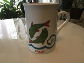 Kalat muki tekstillä, Kahvikupit, mukit ja lasit, Keittiötarvikkeet ja astiat, Laihia, Tori.fi