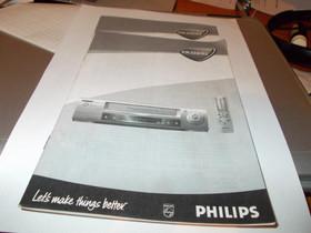 Philips VHS-nauhurin VR330/02 käyttöopas, Muu viihde-elektroniikka, Viihde-elektroniikka, Helsinki, Tori.fi