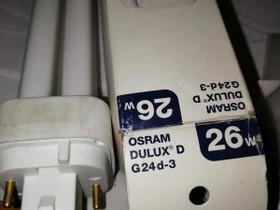 Lamppu Osram26W, Sähkötarvikkeet, Rakennustarvikkeet ja työkalut, Nurmijärvi, Tori.fi